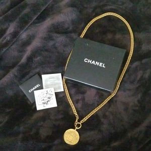 Chanel Medallion Necklace Authentic Gold Plated